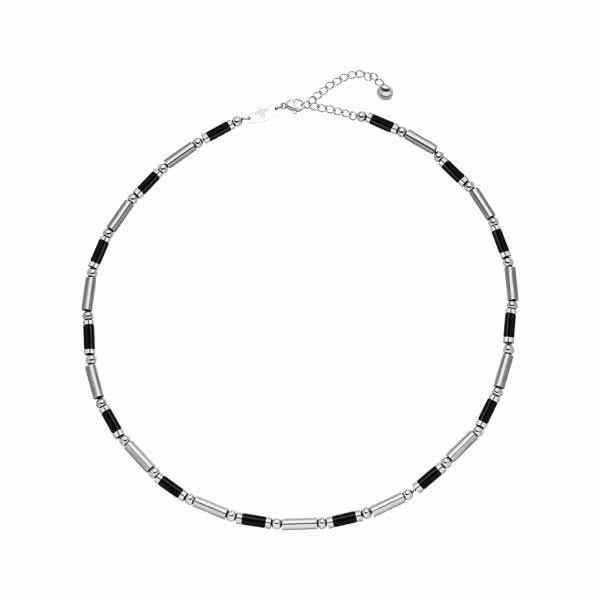 Magnet-Halskette im Bicolour-Design schwarz