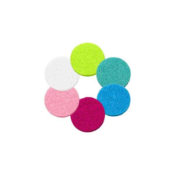 Filzplättchen 22mm für 30mm Duftschmuck-Anhänger in 6 Farben