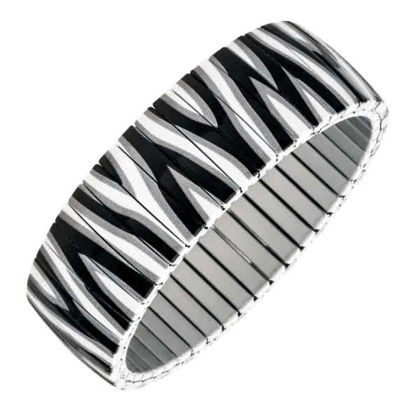 Flexi magnetic bracelet in zebra design