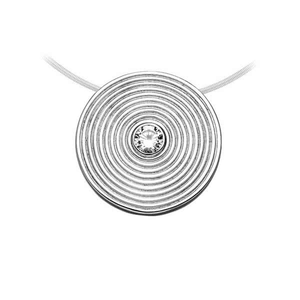 Magnetic pendant circle design with high symbolic power