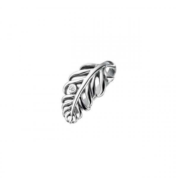 Ring mit Zirkonia Feather