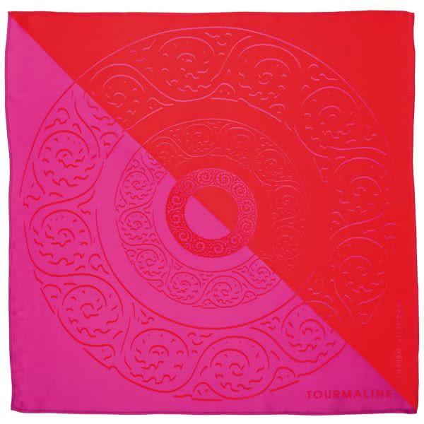 Silk scarf red-fuchsia 90x90 cm