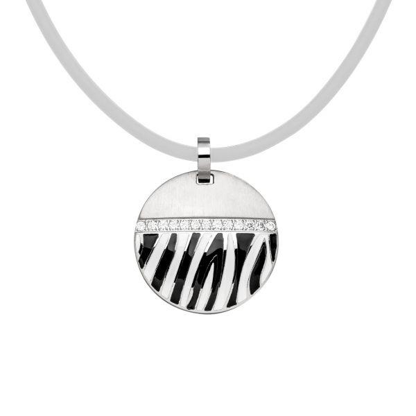 Magnetanhänger im Zebra-Design mit funkelnden Zirkonia