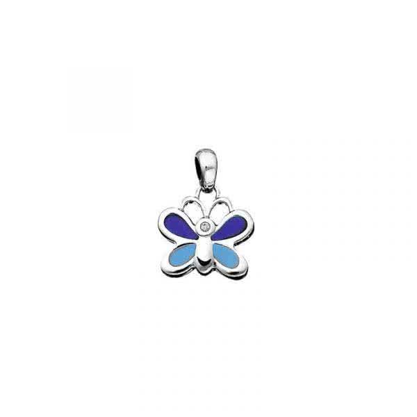 Magnetanhänger Schmetterling mit funkelndem Zirkonia