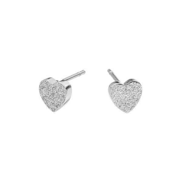 Clous d'oreilles magnétiques, motif cœur, surface diamantée