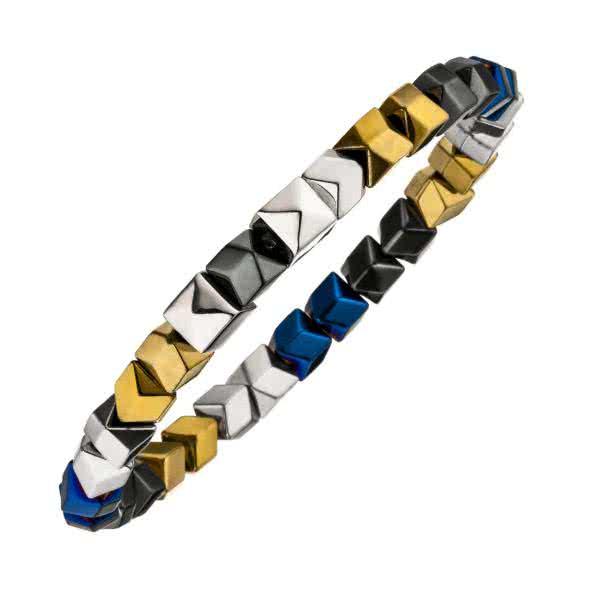 Flexibles Armband Hämatit farbig
