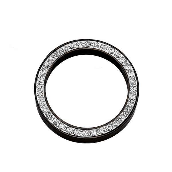 Anhänger Circle 30mm schwarz