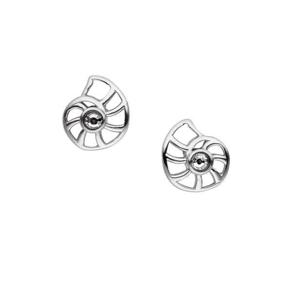 Clous d'oreilles magnétiques Nautile avec cristal