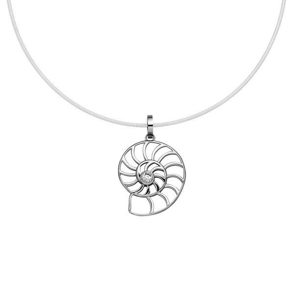 Magnetanhänger Nautilus mit funkelndem Kristall