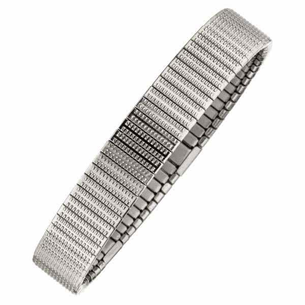 Flexibles Magnetarmband fein gemustert mit Kupfer-Elementen