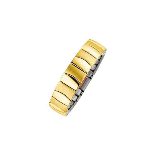 Flexibler Magnetring goldfarben im Matt-Glanz-Design