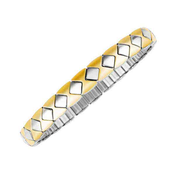 Flexi Magnet-Armband Carré mit geometrischen Formen