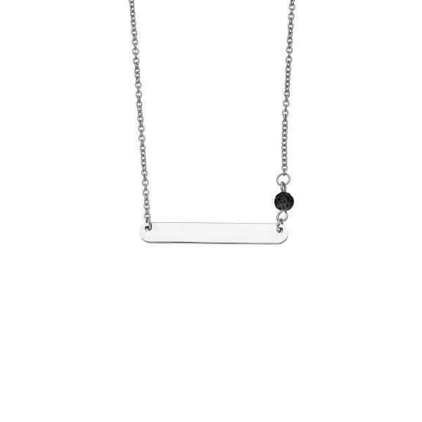 Collier magnétique poli brillant avec les perles de lave