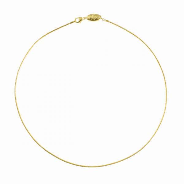 Halskette goldfarben gedreht (d=2,5mm)