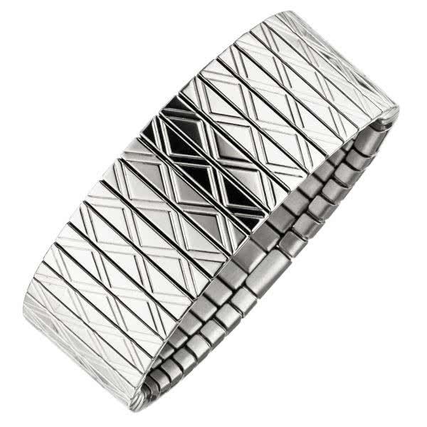 Flexi Magnetarmband Edelstahl mit Kupfer 22mm