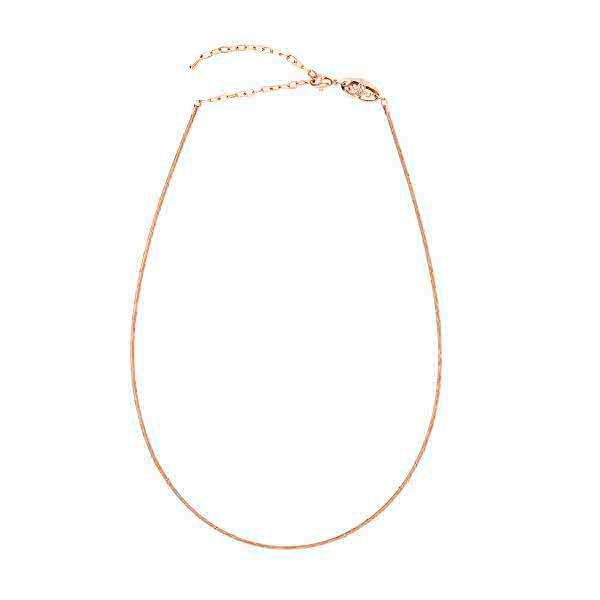 Vielseitige Halskette aus Edelstahl roségold