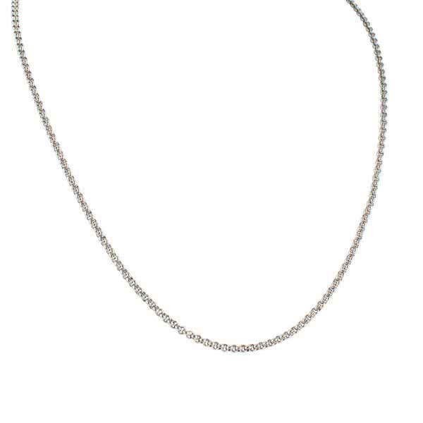 Ball necklace stainless stainless (l=90cm, d=1,5mm)