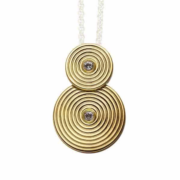 Magnetanhänger Kreis-Design goldfarben groß mit hoher Symbolkraft