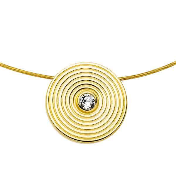 Magnetanhänger Kreis-Design 30mm goldfarben