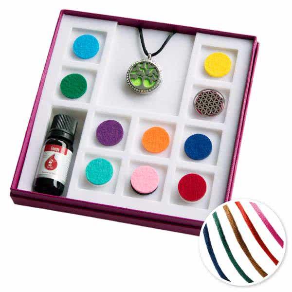 Aroma Geschenkbox groß mit 2 Schmuckscheiben mit Glitzersteinen