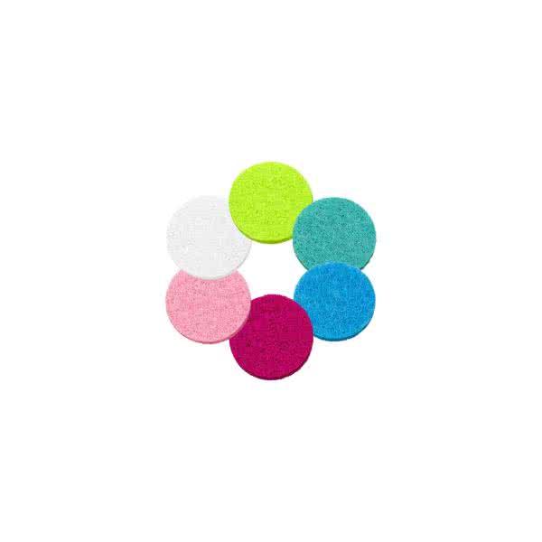 Filzplättchen 12mm für 20mm Anhänger/Armbänder in 6 Farben