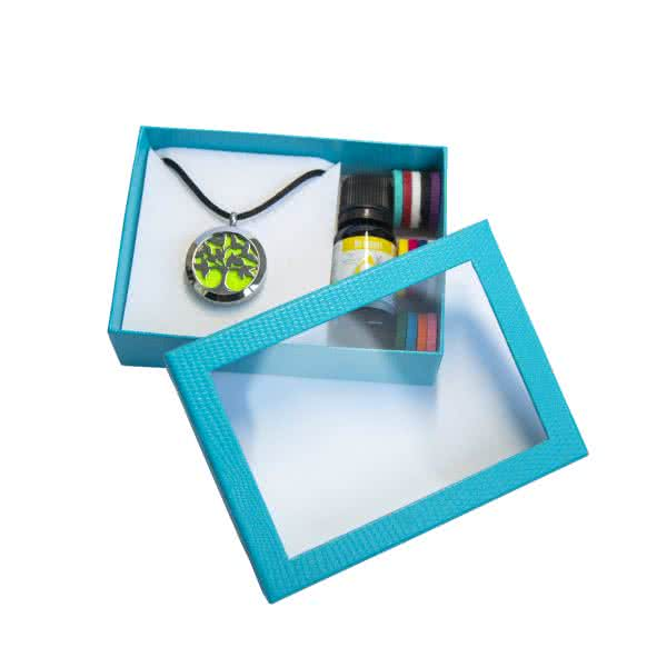 Aroma Geschenkbox klein mit Schmuckdeckel glänzend zur Auswahl