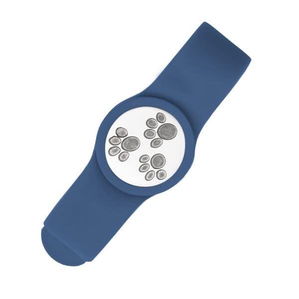 Magnetarmband aus Silikon und ein Motivplättchen