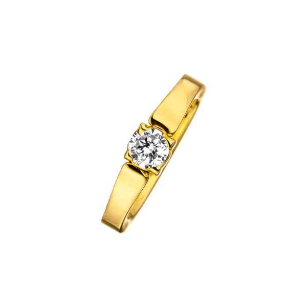 Ring goldfarben mit Zirkonia Classix