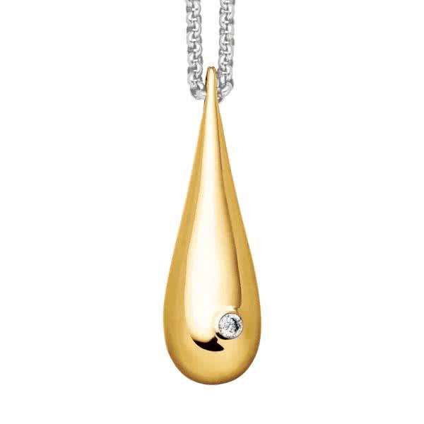 Kettenanhänger Water Drop goldfarben