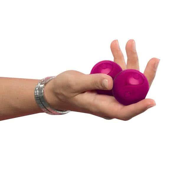 Wellness-Kugeln aus Silikon Fuchsia