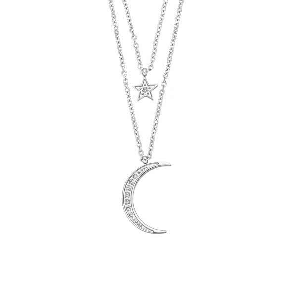 Magnet Double Chaîne Lune & Etoiles
