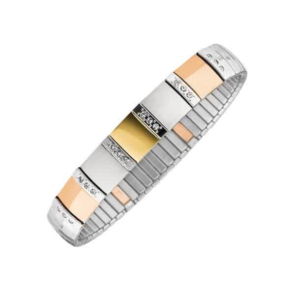 Flexibles Magnetarmband Orbitas - gold / silber / roségold