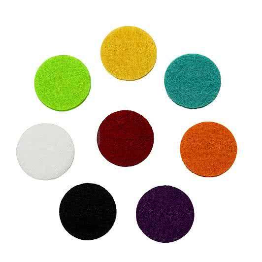 Filzplättchen 22mm für 30mm Duftschmuck-Anhänger in 8 Farben