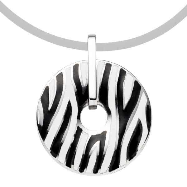 Magnetic pendant in zebra design