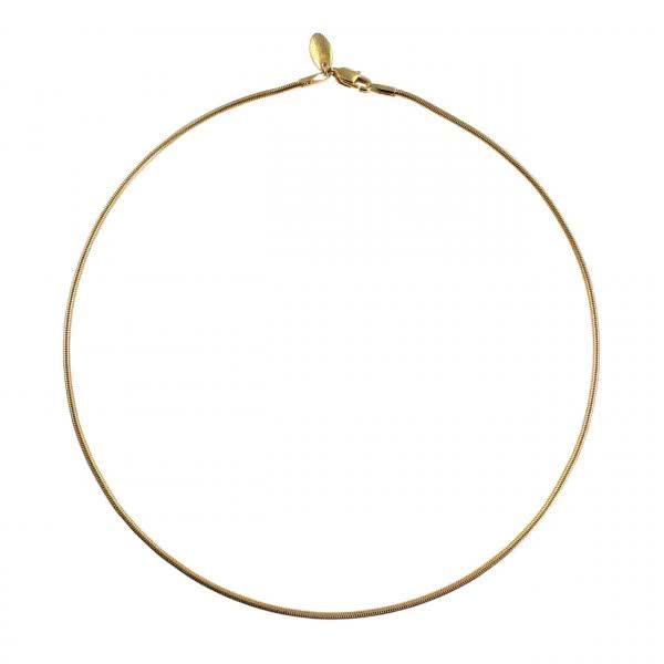 Halskette gedreht & vergoldet