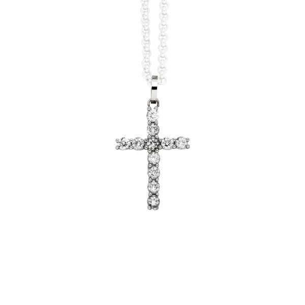 Magnetanhänger Kreuz mit funkelnden Zirkonia