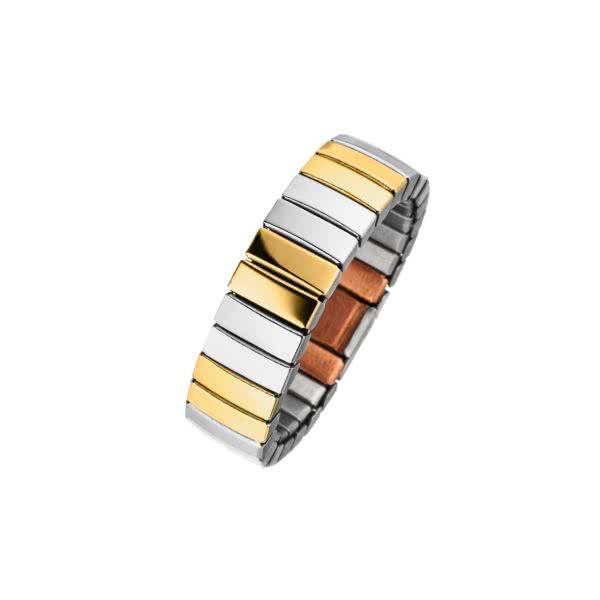 Flexibler Magnetring im Bicolor-Design mit Kupfer