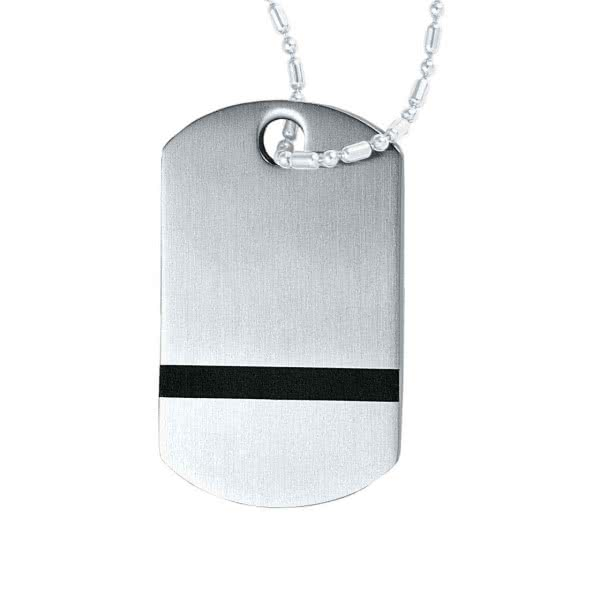 Pure necklace pendant stainless steel, black