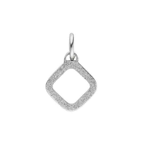 Anhänger klein diamantiert-mattiert