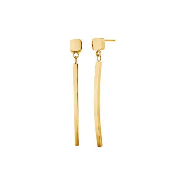 Magnet-Ohrringe im trendigen Geometrie-Design goldfarben