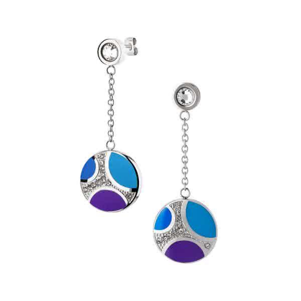 Ohrstecker Orbitas mit Magneten silber/blau