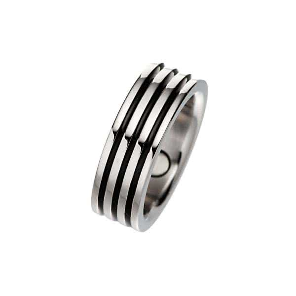 Ring Black Stripe Pure
