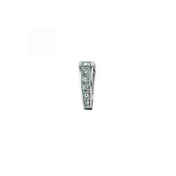 Pendant clip stainless steel with zirconia