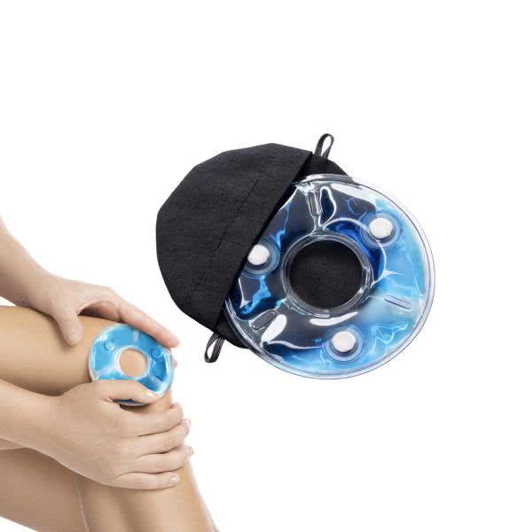 Kühlende Knie-Kompresse mit 3 kraftvollen Neodym-Magneten