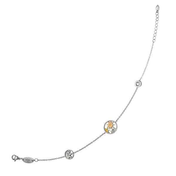 Chaîne de cheville magnétique avec motif jasmin