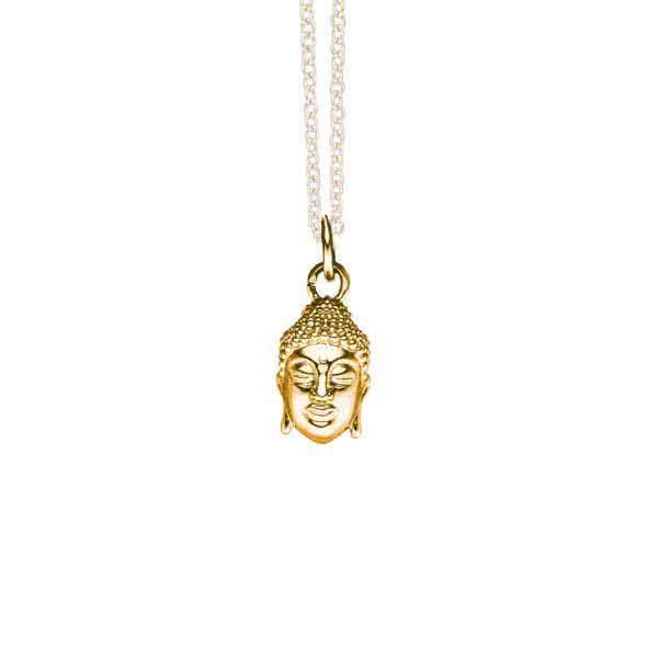 Magnetanhänger goldfarbener Buddha Glücksbringer für Gelassenheit und Ausgeglichenheit