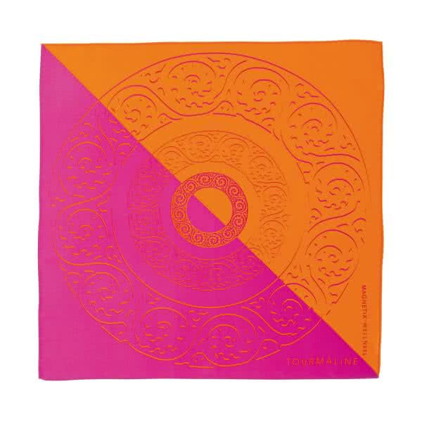 Seidentuch pink, orange 53x53 cm