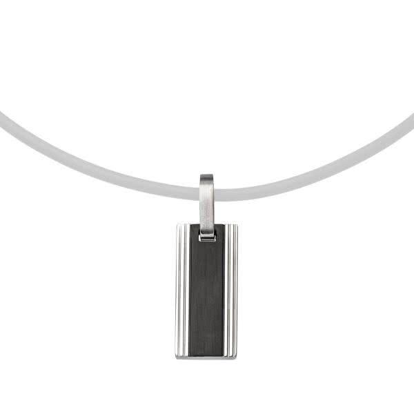 Magnetanhänger mit feinen Linien, Edelstahl-schwarz