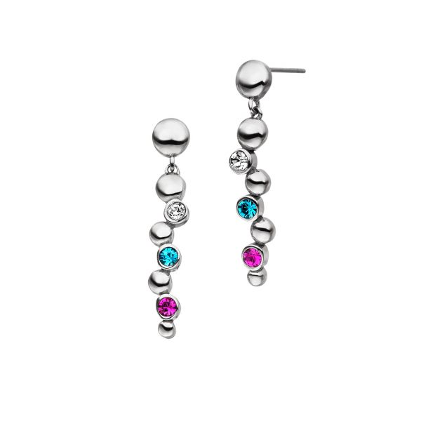 Pendants boucles d'oreilles magnétiques Bulles d'eau avec cristaux