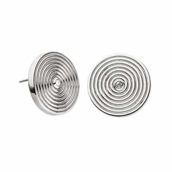 Magnetohrringe Kreis-Design 17 mm Ohrstecker mit Swarovski-Kristall